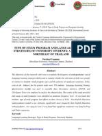 TYPE OF STUDY PROGRAM AND LANGUAGE LEARNING STRATEGIES OF UNIVERSITY STUDENTS