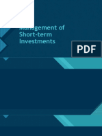 Management of Short-term Investments Lecture
