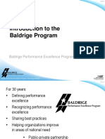 2018 Introduction to the Baldrige Program