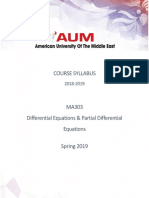 MA303 - Syllabus