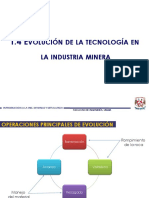 1.3 Evolución de La Tecnología en La Industria Minera