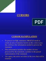 Cursors in Oracle