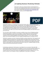 Essential Tips On Led Lighting Business Marketing Methods