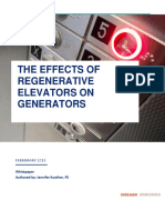 The Effects of Regenerative Elevators On Generators