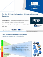 9 the Use of Dynamic Analysis in Optimising Machining Operations