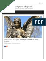 Paolotescione Altervista Org 3 Invocazioni Allangelo Custode Per Chiedere Un Aiuto Speciale
