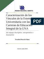 Libro Caracterización de los vículos de la Extensión Universitaria Con las Carreras de Educación Integral.pdf