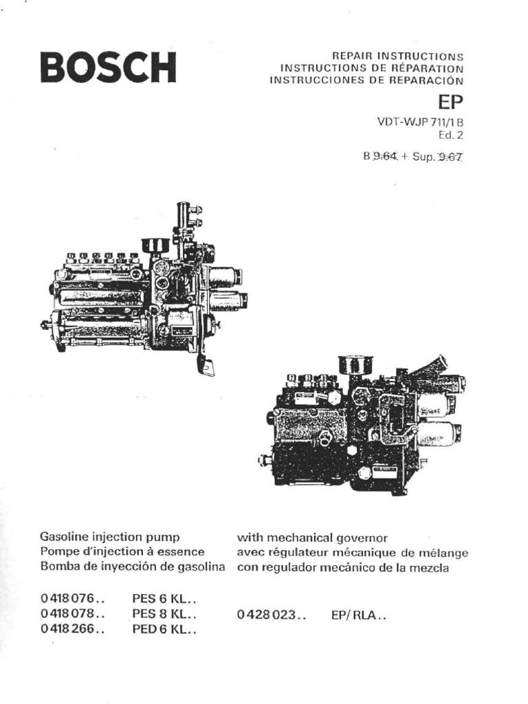 Bosch Mfi Repair Manual