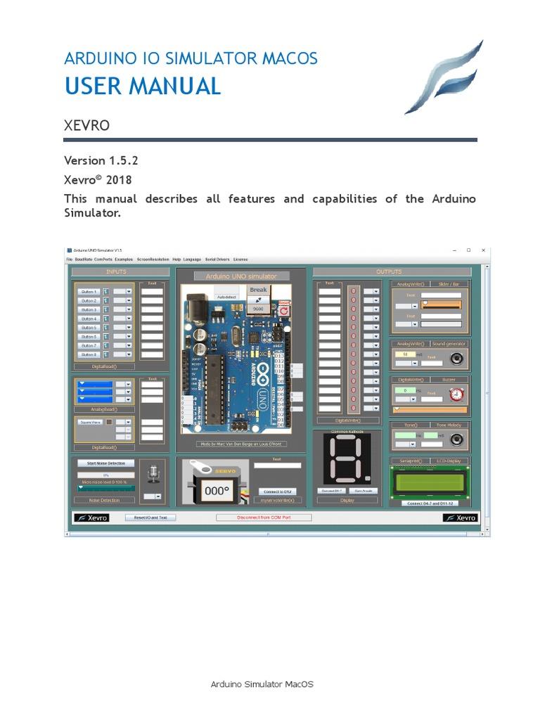 Userguide ArduinoSimulator MacOS Englisch | Arduino | Mac Os