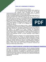 Dimensión Territorial de La Soberanía de Venezuela