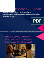 3a Ppt Adolescence 9 18 Years Emotional Development