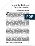 Bourdieu - 2001 - Against the Policy of Depoliticization
