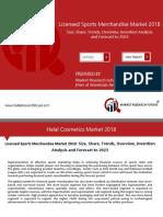 Licensed Sports Merchandise Market Segmentation Analysis 2018 By Types & Applications