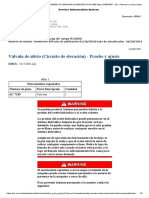 Válvula de Alivio (Circuito de Elevación) - Pruebe y Ajuste CERTIFICACION