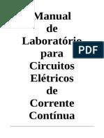 Manual de Laboratório Para Circuitos Elétricos de CC