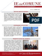Notizie Dal Comune di Borgomanero del 1° Marzo 2019