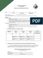 SLU - Saint Louis University Philippines Principals Recommendation Form