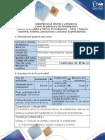 Guía de actividades y rúbrica de evaluación – Tarea 1-Espacio muestral, eventos, operaciones y axiomas de probabilidad .docx