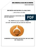 Decreto Municipal Nº 004-2018 Reglamento Del Carnaval