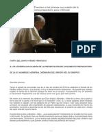 Carta Del Papa a Los Jovenes