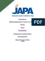 Tarea i. Fundamentación Didáctica de La Lectura y La Escritura (1)