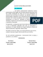 tarea de inglés e  informe del proyecto oral 1° primaria 2019 (1)