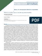 Reflexión sobre los problemas a la reincorporación laboral tras incapacidades médicas largas - SCIELO - José Manuel Vicente Prado.pdf