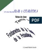 Fundamentos de la teoría de probabilidad
