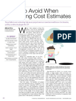 Pitfalls to Avoid When Generating Cost Estimates