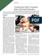 Engineering & Construction (E&C) - Modeling Integration Enables Optimized Execution