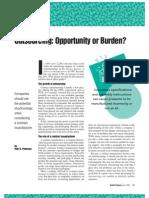 Bd6e3outsourcing Oppurtunity or Burden