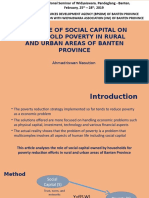 Social Capital and Poverty Banten 1