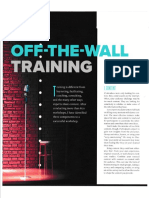 Off-The-Wall Training - March 2019 Speaker Magazine