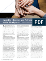 Invisible illnesses & advocacy in the workplace