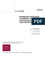 Development & Practive of Arbitration in India - Has it eveolved as an Effective Legal Institution.pdf