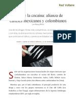Ruta de La Cocaína_ Alianza de Cárteles Mexicanos y Colombianos, Por Nancy Flores