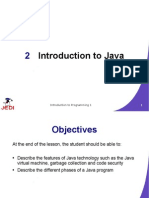 JEDI Slides Intro1 Chapter 02 Introduction to Java | Java