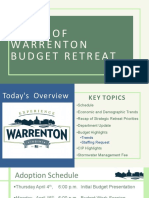 Town of Warrenton Budget Retreat 030119