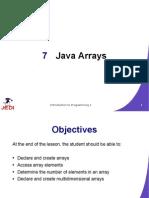 JEDI Slides Intro1 Chapter07 Java Arrays