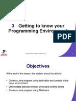 JEDI Slides Intro1 Chapter 03 Programming Environment