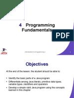 JEDI Slides Intro1 Chapter04 Programming Fundamentals