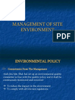 Assignment Management of Site Environment