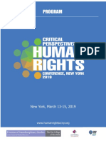 Critical Perspectives on Human Rights Conference -Program- New York City, March 13-15, 2019