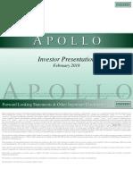 Apollo Global Management LLC Feb Investor Presentation Update VFinal