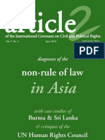Vol. 09 - No. 02 Jun 2010 -- Diagnoses of the NON-RULE OF LAW IN ASIA