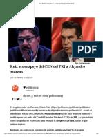 18.02.19 Ruiz Acusa Apoyo Del CEN Del PRI a Alejandro Moreno