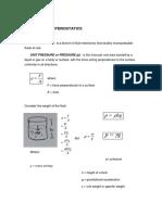 Principle of Hydrostatics