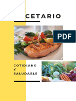 Recetario Saludable Cotidiano