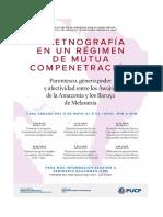 Programa-La Etnografía en Un Régimen de Mutua Compenetración