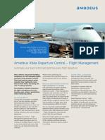 Amadeus Altea Departure Control Flight Management